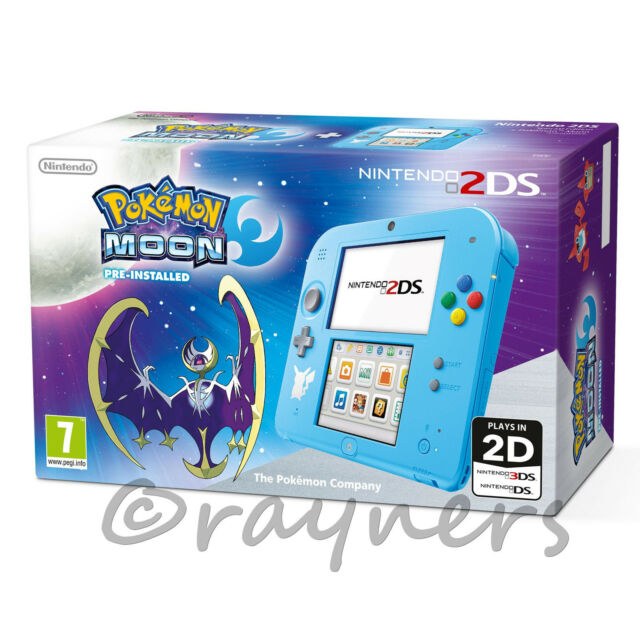 New | Special Edition Nintendo 2DS Console + Pokemon Moon Game (Pre-Installed)