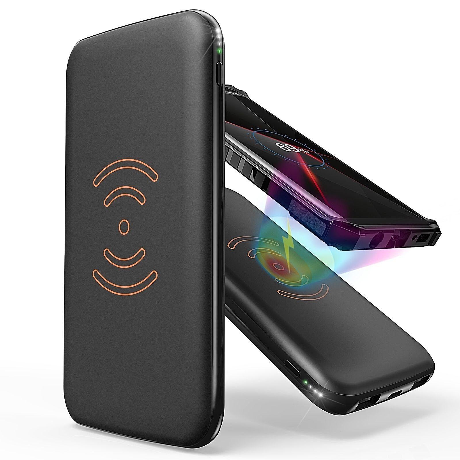 10,000mAh Wireless Charging Power Bank Portable External Bat