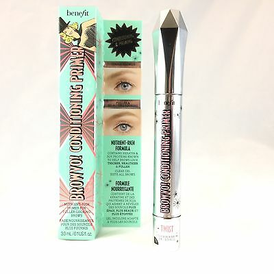 NEW BENEFIT Browvo! Conditioning Eyebrow Primer FULLSIZE Thicker Healthier Brows