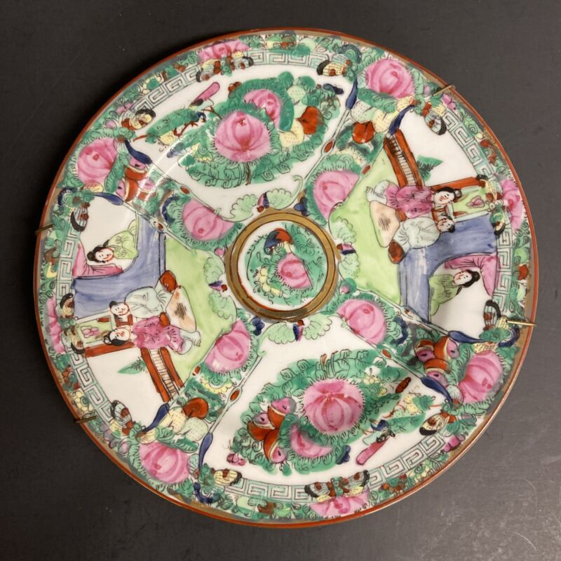 """3 A.C.F. Japanese Porcelain Ware Decorated in Hong Kong 8"""""""