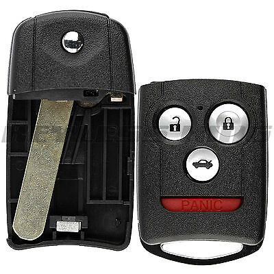 New Replacement Keyless Entry Remote Flip Car Key Fob Shell Case for Acura