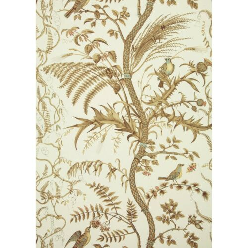 WALLPAPER - BIRD & THISTLE - BEIGE - 2 Roll Minimum