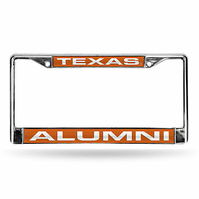 Texas Longhorns Alumni NCAA Chrome Metal Laser Cut License Plate Frame Texas Longhorns Metal License Plate