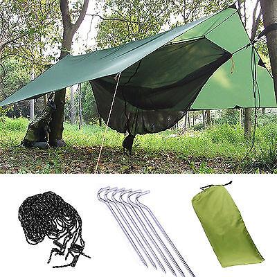 - Portable Tent Tarp Sun Shelter Rain Waterproof Bag 30x30M Fly Hammock Shelter L