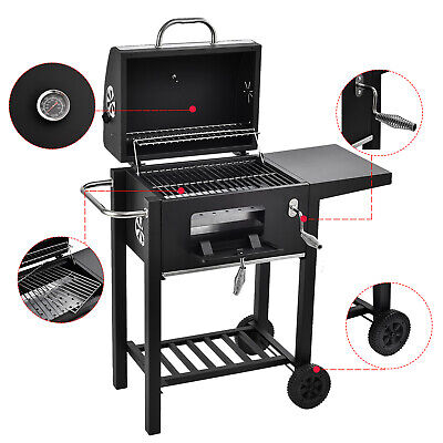 BBQ Charcoal Grill Backyard Barbecue Cooking Outdoor Patio Portable with Wheels