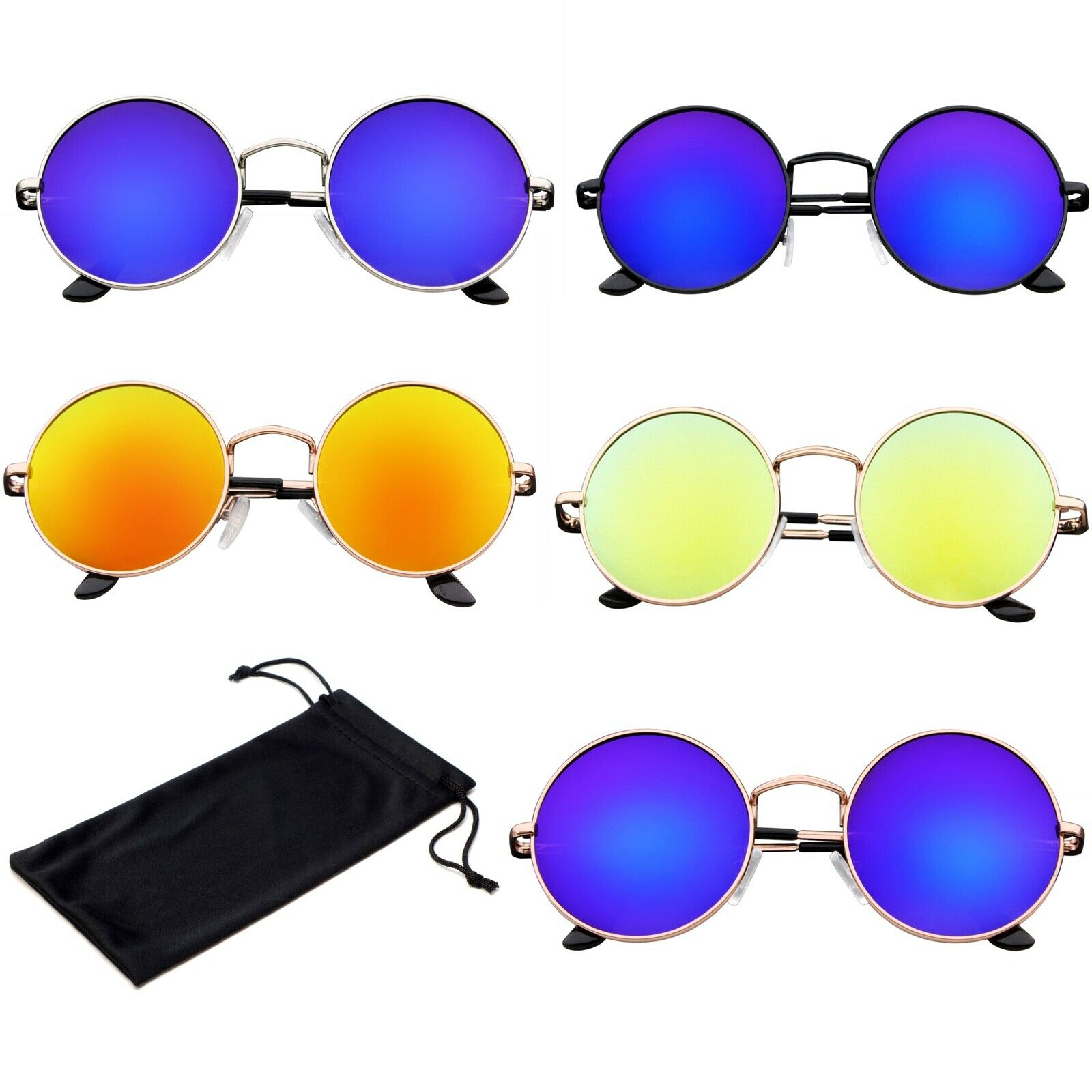 Vintage Retro Round Sun Glasses Hippie Boho Sunglasses