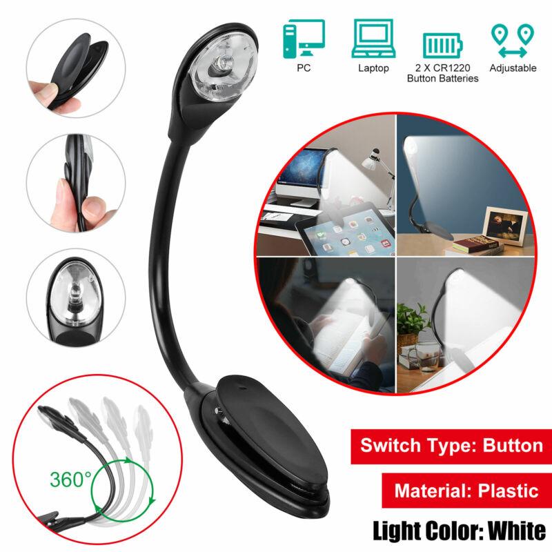 Mini White LED Clip Booklight Flexible Portable Travel Book Reading Light