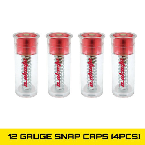 Atacpro 12 Gauge 4Pk Shotgun Plastic Snap Caps 12GA Firing Pin Dummy Round Shoot
