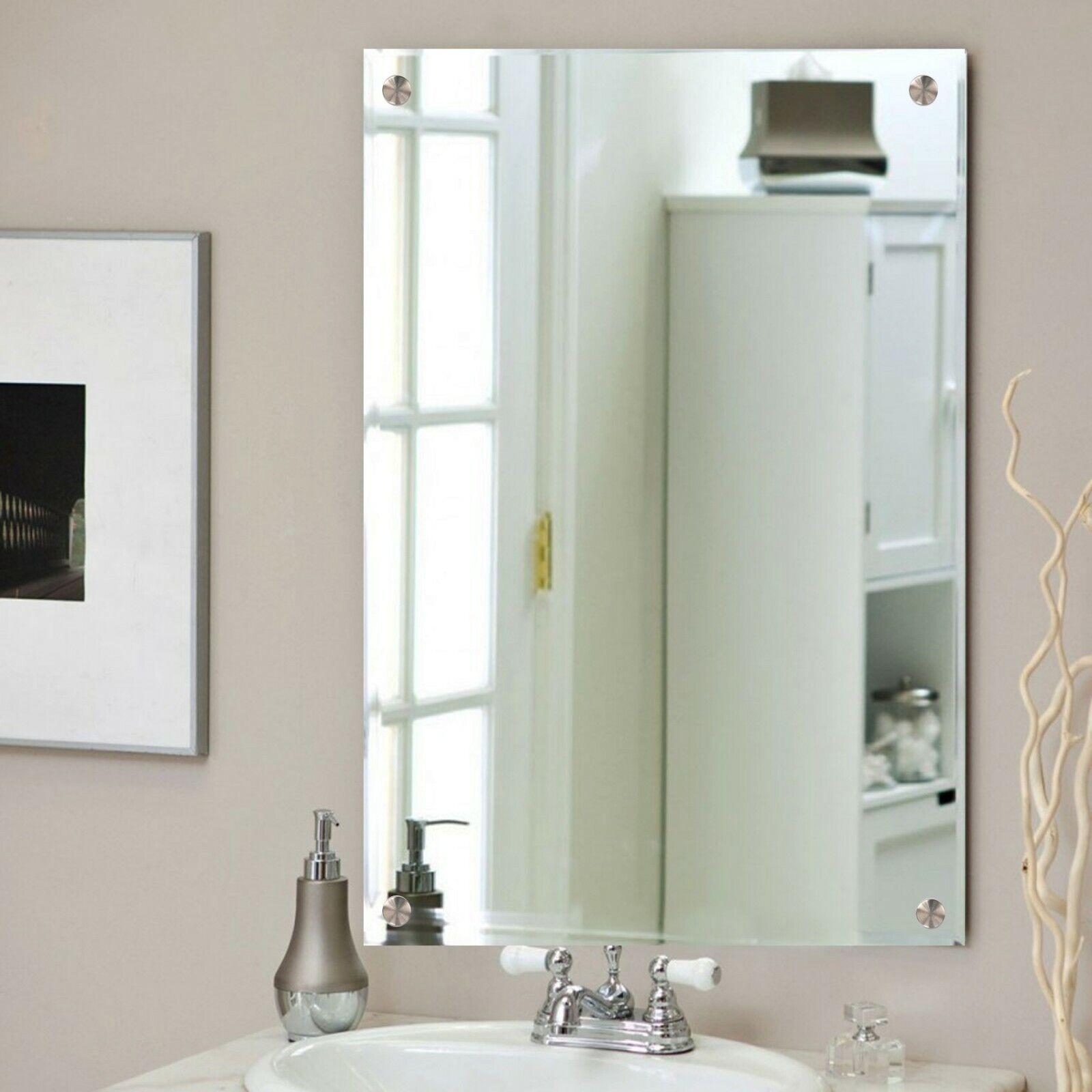 Wall Hanging Frameless Bathroom Mirror