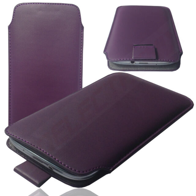 1A Slim Cover Case Schutz Hülle Etui Pull Tasche für Lenovo S856 LILA