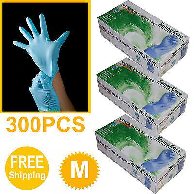 300 3boxes Nitrile Disposable Gloves Powder Free Latex Vinyl Free Sizemedium