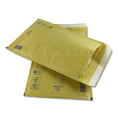 100 x GOLD BUBBLE ENVELOPES 220x340mm(F/3)(EP6)Padded Bags MEDIUM Postage