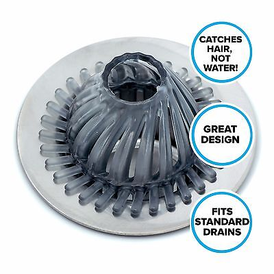 Hydro Flow Hair Catcher for Tub & Shower Drains: SlipX Solutions Drain Protector