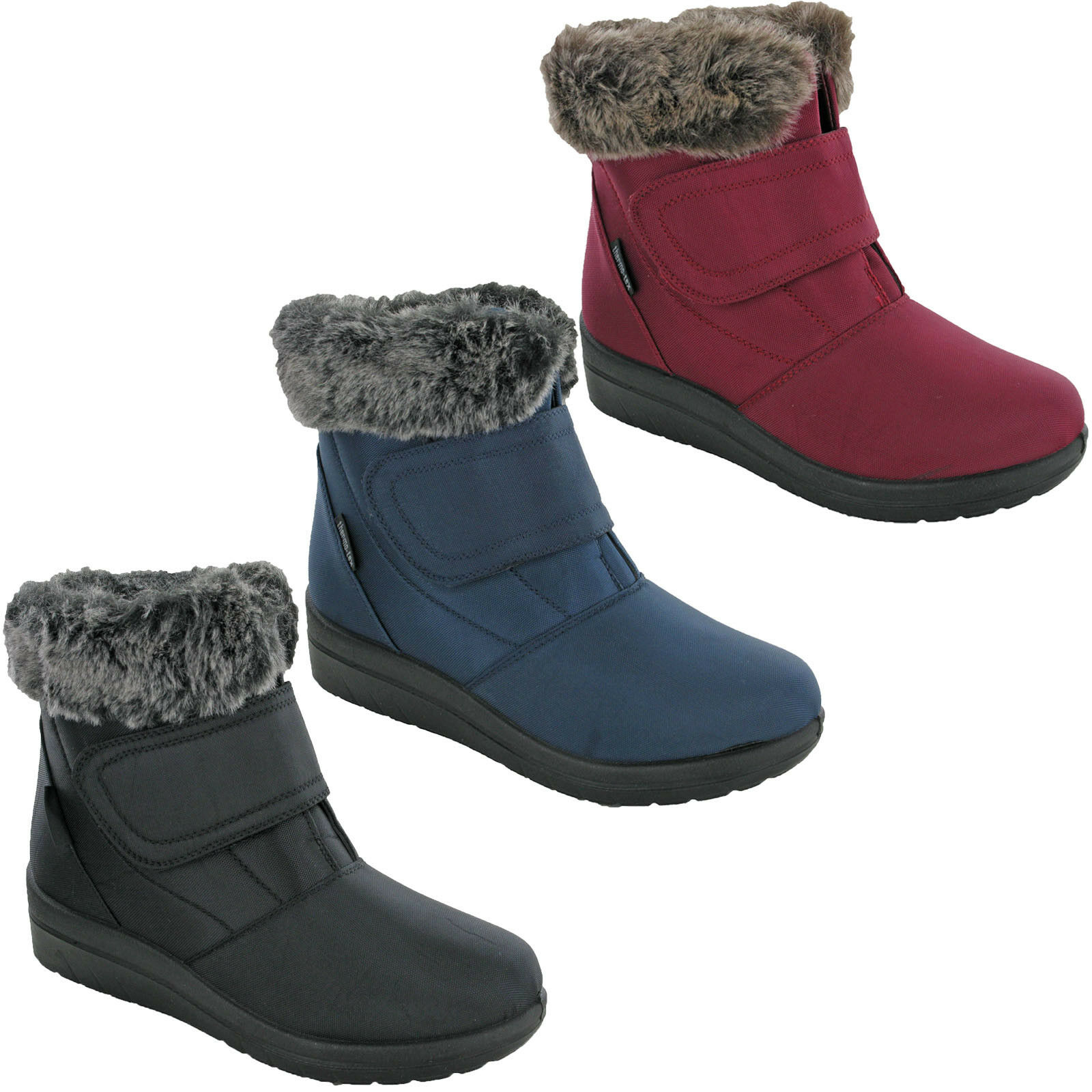 38e3dc26275 Details about Womens Winter Boots Thermo Tex Snow Cushion Walk Warm Fur  Lined Shoes UK 4-8