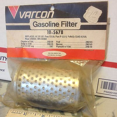 Chrysler and Ford fuel filter, 1958 to 1967, NORS.    Item:  9346