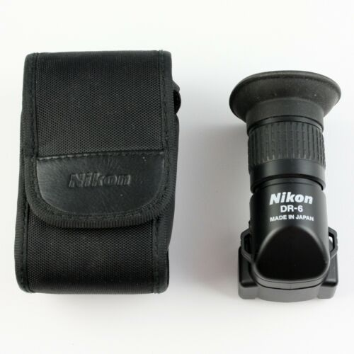 Nikon DR-6 Focusing Right-Angle Viewfinder +1, +2 Magnification + Case - Clean!