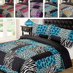 Red And Black Zebra Print Bedding