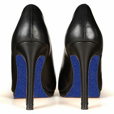 Sole-Glo DIY Sparkle Blue Shoe Bottom High Heel Customization Enhancer - Blue Sparkle Shoes