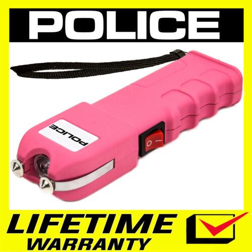 POLICE Stun Gun PINK 928 650 BV Heavy Duty Rechargeable LED Flashlight