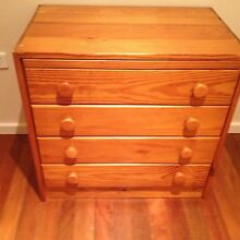 One 4 draw one bedside table tv stand Merewether Newcastle Area Preview