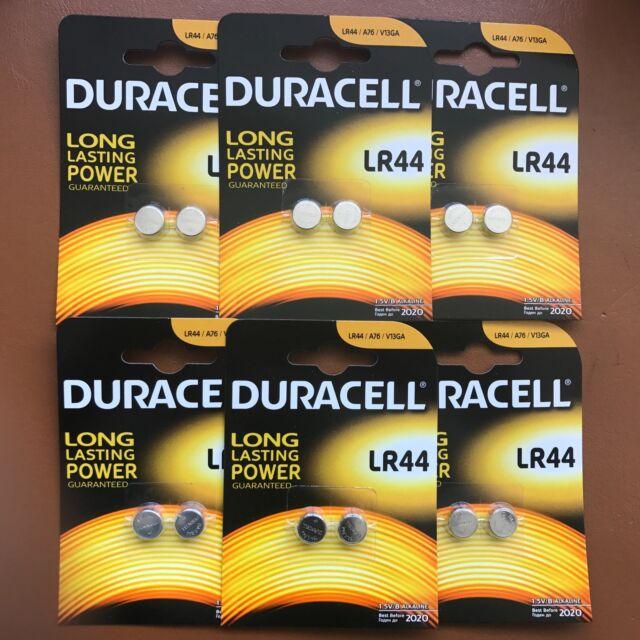 12 x DURACELL LR44 1.5V ALKALINE CELL BATTERY A76 AG13 SR44 GPA76 Longest Expiry