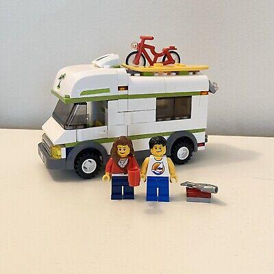 Lego City 7639 Camper RV Motor Home Town Camper Bike Surfer Minifigures Great