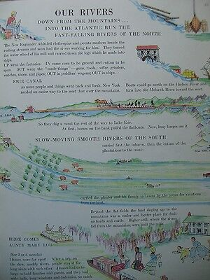 The Little Geography of the United States by Mable Pyne 1941 Geografie USA