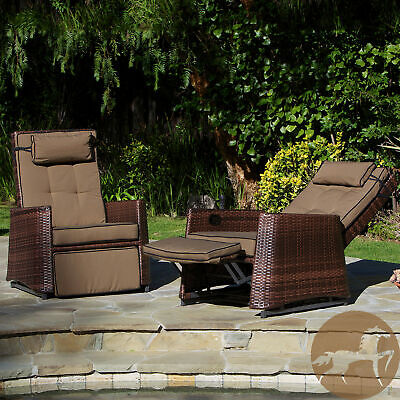 Christopher Knight Home Outdoor Brown Wicker Recliners