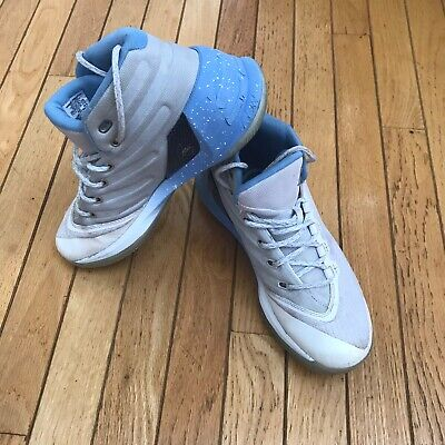 Under Armour Steph Curry 3 White Opal Blue Youth Boys Basketball Shoes Size 7Y