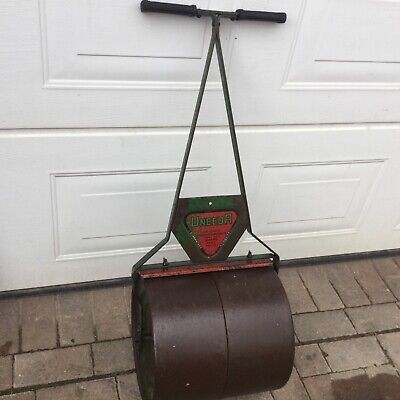 Vintage  uneeda  Garden   lawn Roller working  / location March Cambridgeshire