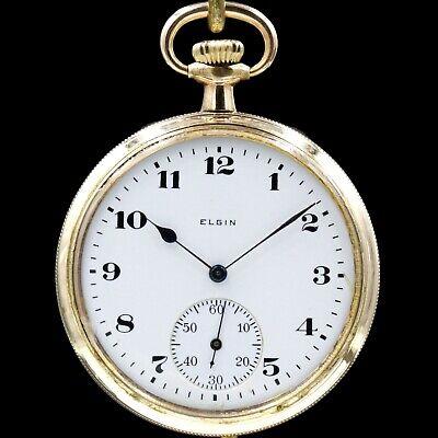 Gold 1921 ELGIN 15 Jewel Mechanical Pocket Watch 12s Grade 315 Antique USA