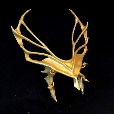GOLD HEADPIECE Leather Mask Greek God Apollo Cosplay Athena - Festival Halloween