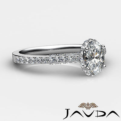 Circa Halo Pave Set Oval Diamond Engagement Ring GIA D Color SI1 Clarity 1.15Ct 2