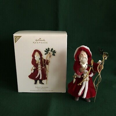 Hallmark Ornament Father Christmas Special Edition 2007 Red Coat -