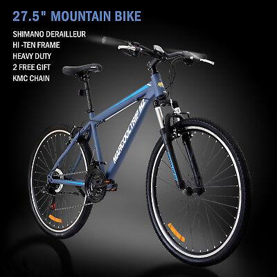 """27.5"""" Men's Mountain Bike Shimano Hybrid 21 Speed Brake Suspension Bicycle Sport"""