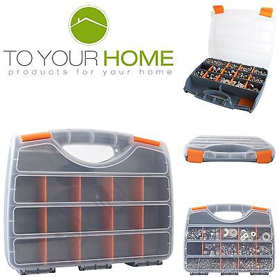 Dihl 17 Compartment Parts Storage Organiser Cabinet Screws Carry Case Tool Box