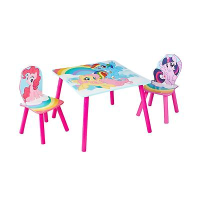 My Little Pony Kids Rainbow Table and 2 Chair Set by HelloHome -Twilight Sp... .