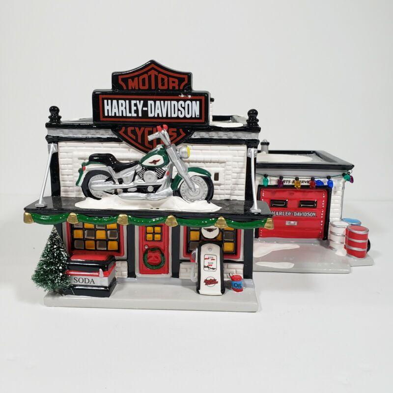 Department 56 Harley Davidson Motorcycle Shop #54886 The Original Snow Village