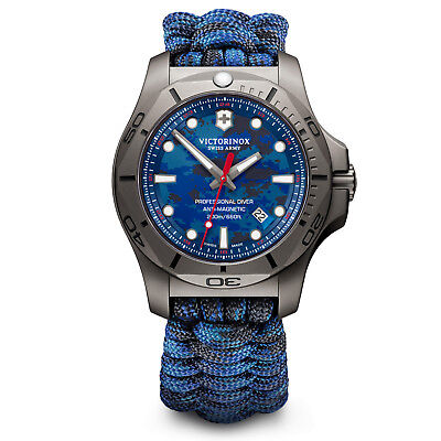 Victorinox Swiss Army 45MM INOX Pro Diver Watch Blue Camo 241813 Authorized NEW for sale  Shipping to Canada