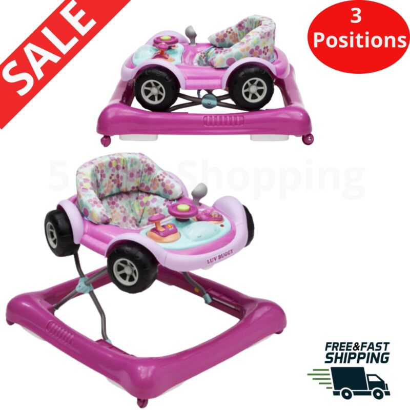 Baby Walker Activity Walking Exercise for Toddlers Realistic Car Detail Design