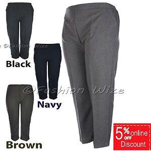 Ladies-Elasticated-Waist-Trousers-Sizes-8-10-12-14-16-18-20-22-24-26-28-30-32