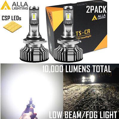 Alla Lighting TS-LED 9006 Headlight Low Beam Slim,White|Fog Replacement Bulb 2pc