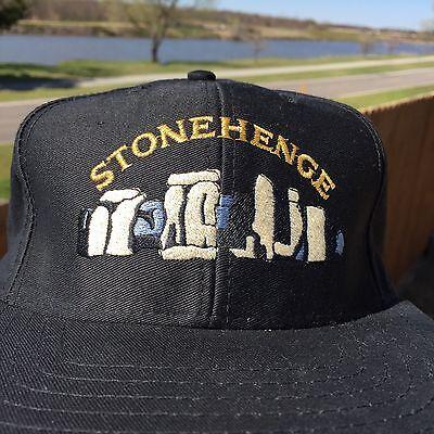 STONEHENGE England souvenir black hat cap w/snapback and English Heritage logo