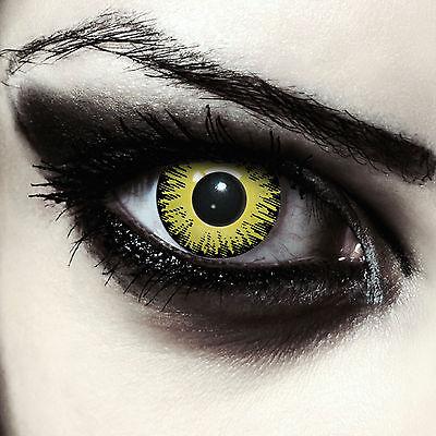 Gruselige farbige gelbe Kontaktlinsen für Halloween Pennywise Kostüm Yellow Fear