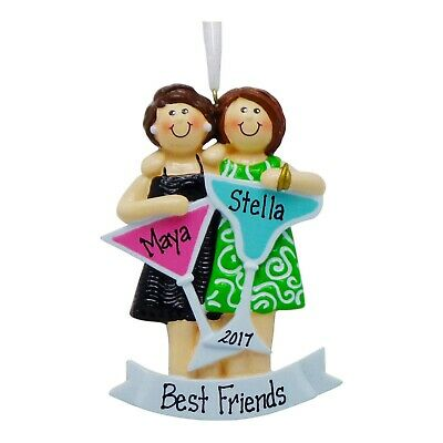 PERSONALIZED Girls Night Out 2 Friends Christmas Tree Ornament 2019 Holiday Gift ()