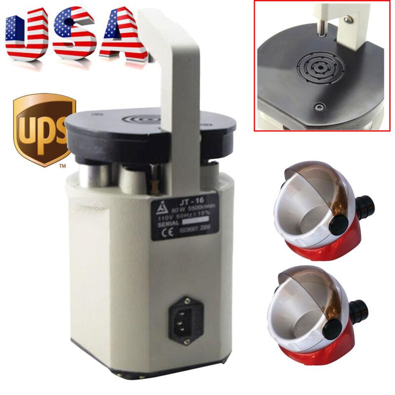US Dental Lab Dentist Laser Pindex Drill Machine Low Noise + 2× Soction Base FDA