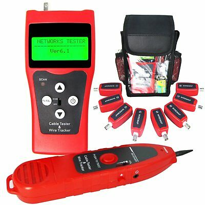 Network Cable Tester Wire Ethernet Lan Tracker Phone With 8 Remote Identifier