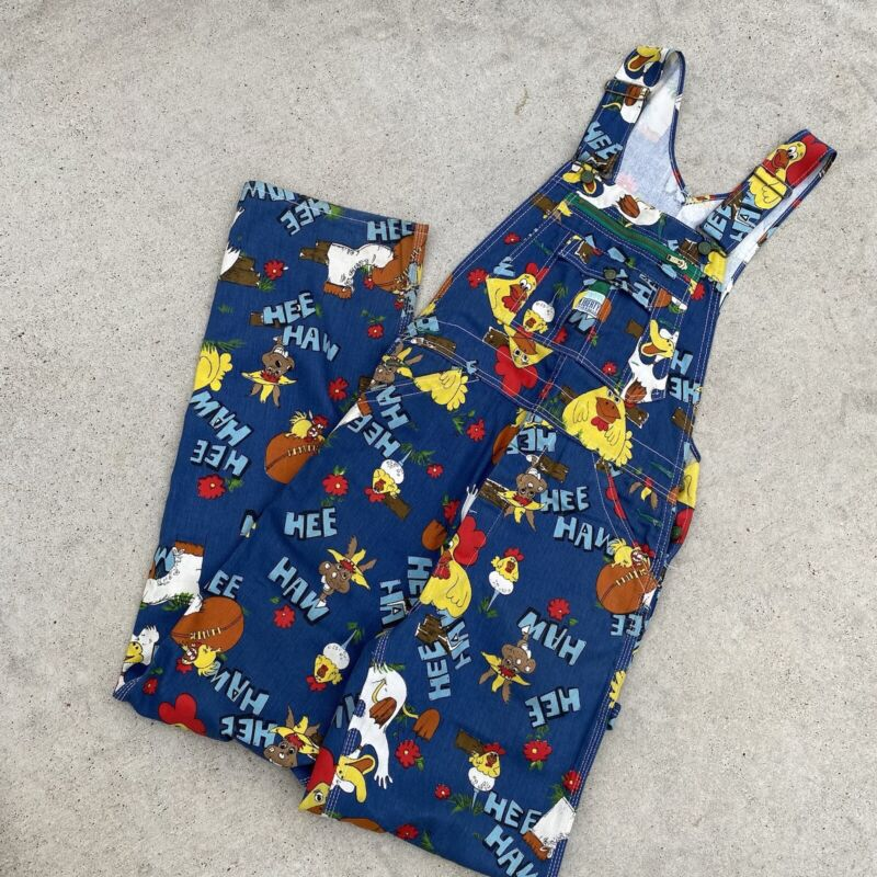 Vintage Hee Haw Overalls 31x36in Adult Size Perfect VintageLiberty Overalls