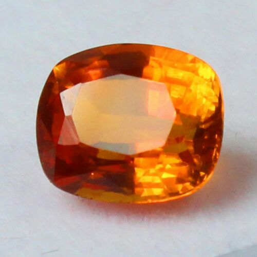 CERTIFIED Natural California Orange Spessartine Garnet Gemstones 9x8 Emerald Cut