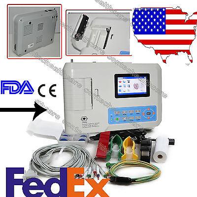 Contec 3 Channel 12 Lead Ecg Ekg Machine Usbsoftware Electrocardiographcefda